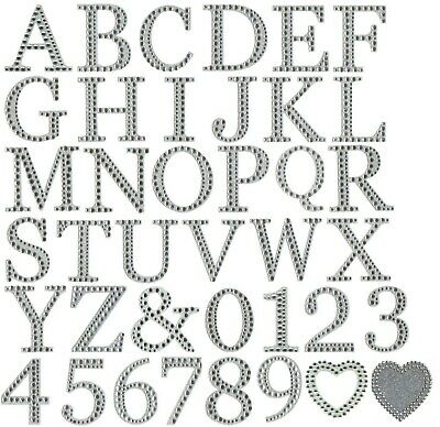 Large 5cm Craft Self Adhesive Stick on Diamante Encrusted Glitter Numbers Symbol