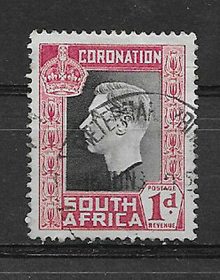SOUTH AFRICA , GEORGE VI , CORONATION., 1937 , 1p STAMP , PERF , USED