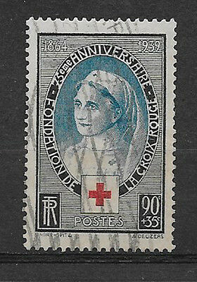 FRANCE , 1939 , RED CROSS , 90c + 35c STAMP , PERF, USED