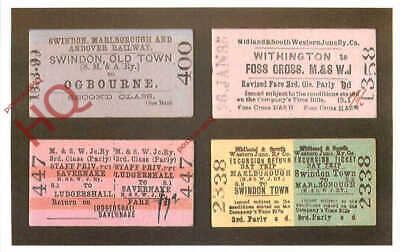 Picture Postcard- RAILWAY TICKETS, MIDLAND & SOUTH WEST JUNCTION RAILWAY