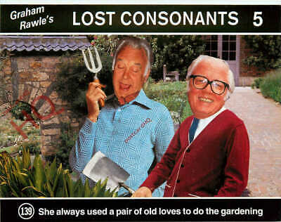 Picture Postcard, Graham Rawle's Lost Consonants 139 (Humour)