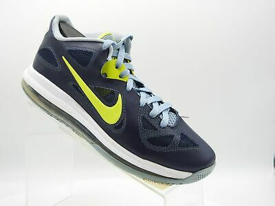 09f6163f507 NIKE LEBRON IX 9 Low Obsidian Blue Cyber Green 510811-401 Men s SZ 7 ...