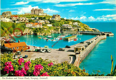 Picture Postcard::Newquay, The Harbour And Towan Head [John Hinde]