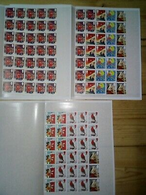 100 x 1st CLASS RED SECURITY STAMPS UNFRANKED OFF PAPER WITH GUM £70 FV 70p #115