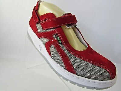 2796b498e9f SANO By MEPHISTO Sz 10M Red Suede Leather MaryJane Flats Comfort Shoes For  Women