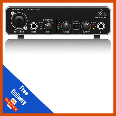 Behringer UMC22 U-PHORIA Audio Interface B STOCK