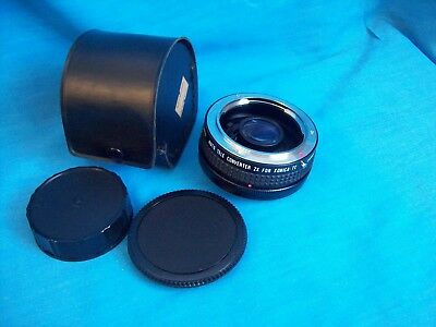 STAR-D Multi-Coated 2X Tele Converter Lens for KONICA 35mm Cameras in Case