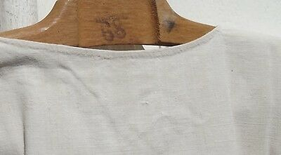 Antique Vintage French Linen Smock Workwear Dress Chore Tunic Chanvre Hemp