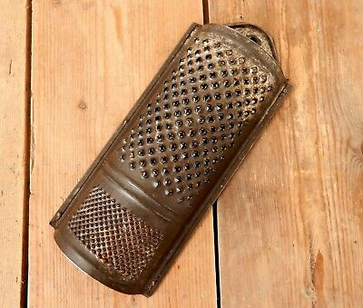 Vintage 1920s - 1930s Metal Kitchen Cheese Vegetable Grater - Tin - Kitchenalia