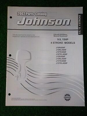 2002 JOHNSON 9 9, 15Hp 4 Stroke Outboard Parts Manual