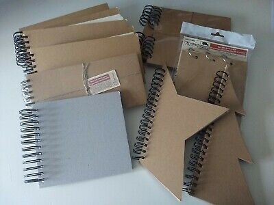 Set of 10 chipboard scrapbook albums mostly naked 7 Gypsies.
