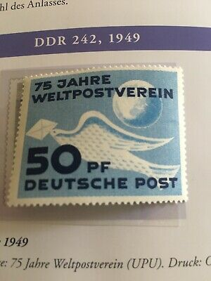 East Germany DDR 1949 SG#E1 UPU 75th Anniv New MNH