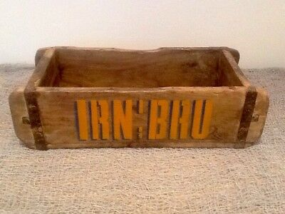 IRN BRU Decorated Vintage Brick Mould. Kitchen Crate. Great for shaving storage