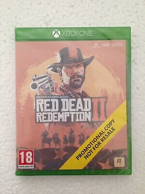 Red Dead Redemption II 2 RARE XBOX ONE Promotional Copy Not For Resale Version
