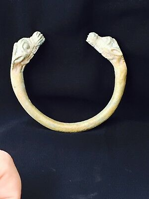 adorable nice near eastern antique bronze bangle