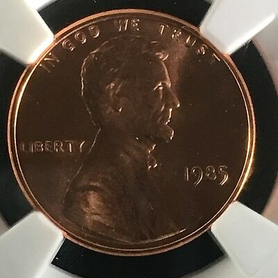 1985 1C RD Lincoln Memorial One Cent NGC MS68+RD        2713529-003c