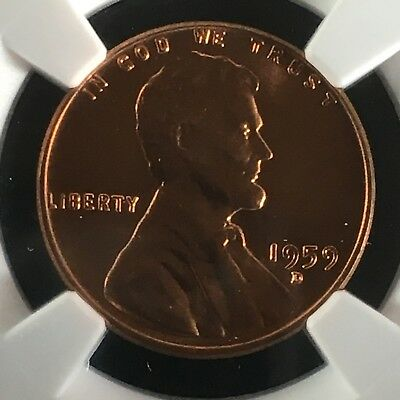 1959-D 1C RD Lincoln Memorial One Cent NGC MS67+RD       2713478-003c