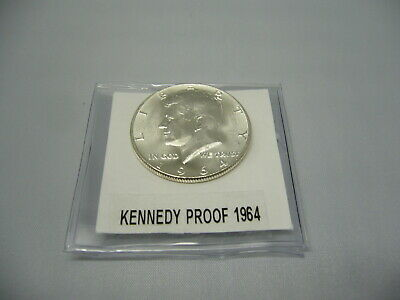 1964 Kennedy Half Dollar Gem Proof 90% Silver Collectible Coin