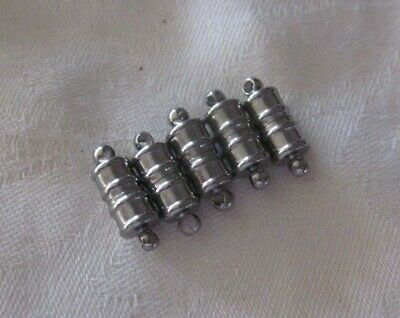 5 Gunmetal Coloured Magnetic Clasps 16mmx6mm #2996 Jewellery Making Findings