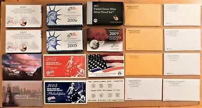 US Mint Silver Proof, Proof & Uncirculated Coin Sets Mixed Lot 18 Sets 161 Coins
