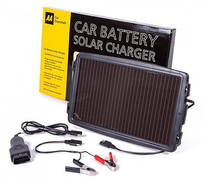 AA Solar Powered Car Battery 12 V  Trickle Top Up Charger
