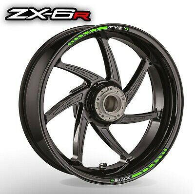 ZX6R wheel rim stickers decals - choice of 20 colours - zx- 6 ninja