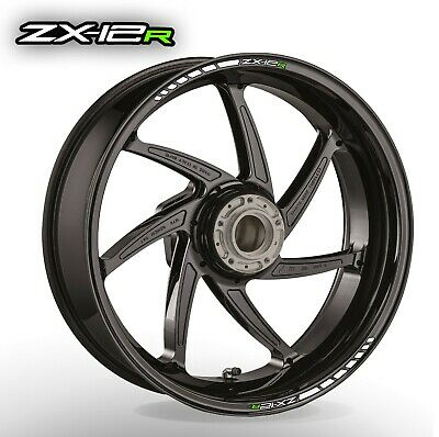 ZX12R wheel rim stickers decals - choice of 20 colours - zx 1200 r zxr zx-12