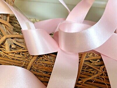 Berisfords Shade 70 Pale Pink Double Satin Ribbon 3/7/10/15/25/35/50mm Widths