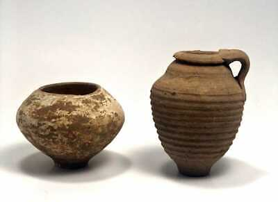 Lot of 2 Ancient Roman Holy Land Terracotta Vessels c.1st-2nd.