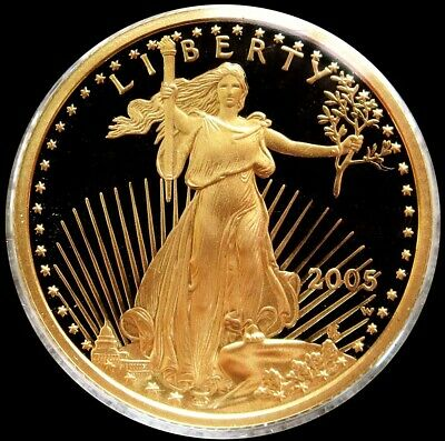 2005 West Point Gold $10 Proof 1/4 Oz Eagle Coin In Mint Capsule