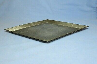 Art Deco English Hand Hammered Small Pewter Tea / Coffee Tray