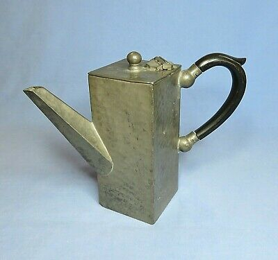 Art Deco English Hand Hammered Pewter Tea/Coffee Pot