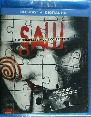 SAW The COMPLETE MOVIE COLLECTION on Blu-ray All 7 Unrated SAW Movies 3-Disc Set