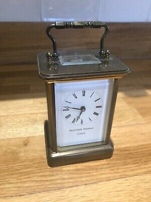 Mathew Norman skeleton carriage clock fully working