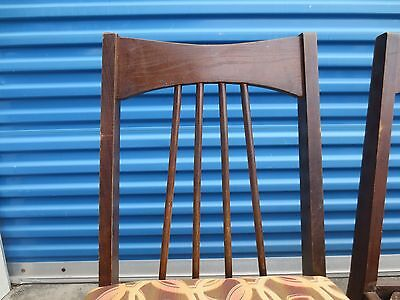 TLC Set 4 dining CHAIRS Mid-century Modern Spindles Eames era style MCM FOUR