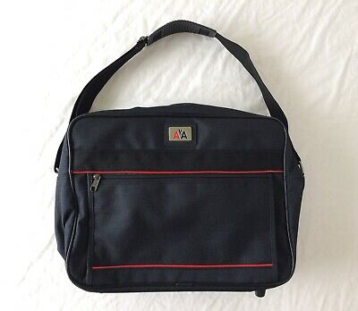 Vintage American Airlines AA Black Flight Travel Carry-On Bag Luggage