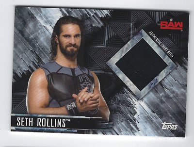 Seth Rollins 2018 Topps Wwe Then Now Forever Authentic Worn Shirt Relic /99