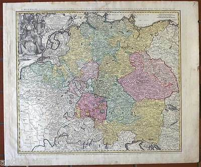 Deutschland - Germany - Karte-Map Homann 1741 Imperii Romano - Germanici