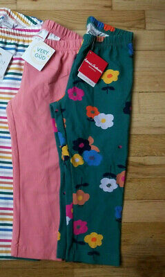 Nwt Hanna Andersson Pink, Blue, Sunny Red, Rainbow, Floral Capri Leggings 140 10