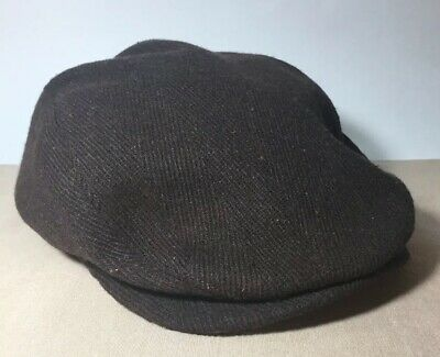 a9424cf7e DANIEL CREMIEUX COLLECTION Newsboy/cabbie Cap Brown Wool Blend Hat S/m Nwt