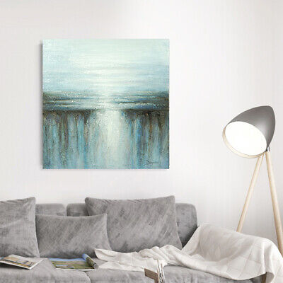 Hand Painted Art Oil Painting Home Decor Canvas Framed Waterfall Landscape