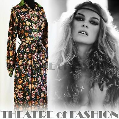 DRESS 60s 70s VINTAGE BOHO JEAN VARON HIPPY-LUXE WEARABLE ART INDIAN FOLK BEAUTY