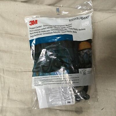 3M Personal Protective Equipment  6502QL Rugged Comfort Quick Latch