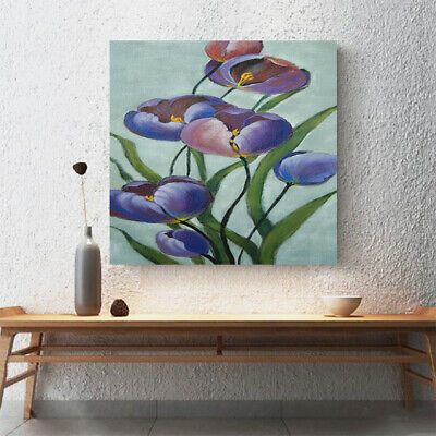 Abstract Hand Painted Oil Painting Stretched Canvas Wall Art Framed - Tulip