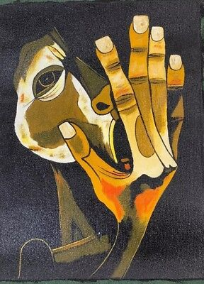 Oswaldo Guayasamin Handmade Painting Sculptures ''THE CRY'' WALL ART CANVAS