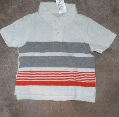 NEW The Children's Place Golf Polo Shirt 18-24 months mos Boys Striped Bar NWT