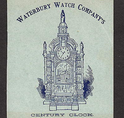 Waterbury Watch 1893 Antique Steampunk Trade Card Chicago Worlds Fair Exposition