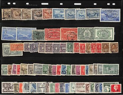 Lot of 71 Canada Used BOB Back of Book Stamps #139951 X