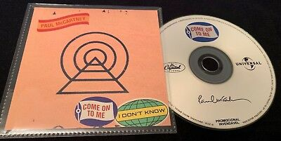 Very Rare Brazil Promo Cd Single Paul Mccartney - Come On To Me (Limited)