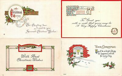 Lot of 14 Early Christmas Greetings & Poems Postcards #138032 R